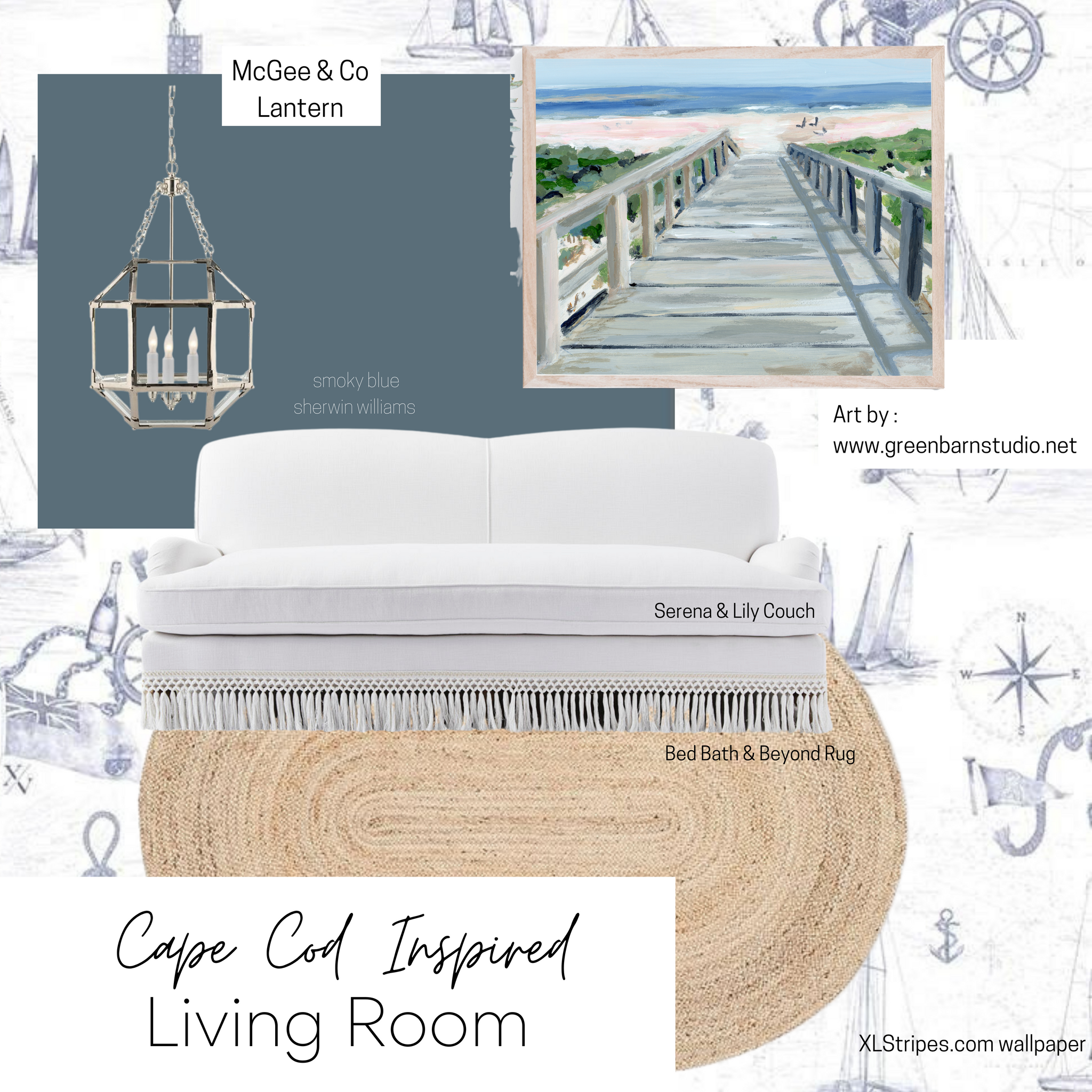 Cape Cod Inspired Living Room