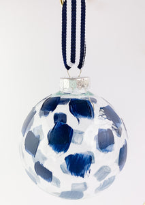 Tidal Reflection- Hand Painted Glass Ornament