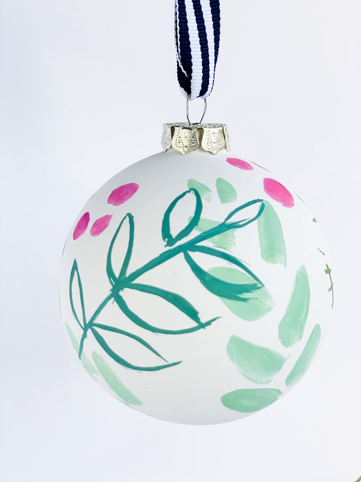 Evergreen Joy- Hand Painted Bisque Ornament