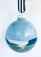 Load image into Gallery viewer, Winter Marsh- Hand Painted Bisque Ornament