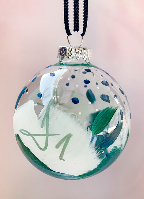 Snow Flower, Large- Hand Painted Glass Ornament