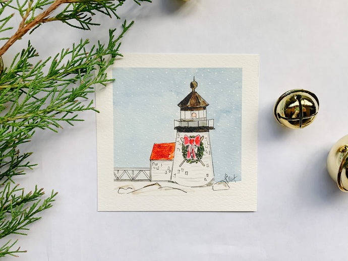 Christmas at Brant Point Light, Nantucket
