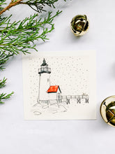 Load image into Gallery viewer, Winter Snow on Annisquam Lighthouse, Gloucester