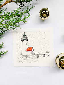 Winter Snow on Annisquam Lighthouse, Gloucester