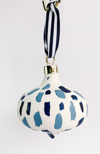 Tidal Impressions- Hand Painted Bisque Ornament