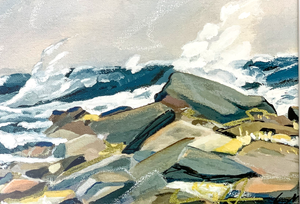 Eastern Point, Prout's Neck, inspired by Winslow Homer