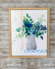 Load image into Gallery viewer, Blue and Green Simple Floral