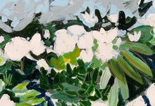 Load image into Gallery viewer, Abstract White Flowers with Blue and Green