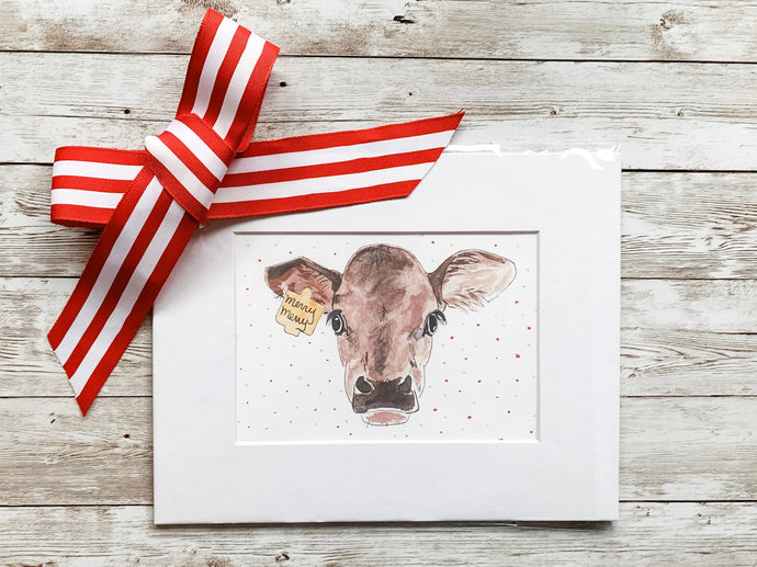 Merry Merry Christmas Cow