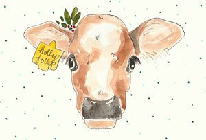 Holly Jolly Christmas Cow
