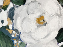 Load image into Gallery viewer, White Flowers in Oil