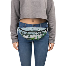 Load image into Gallery viewer, Blue and Green Floral Print Belt Bag