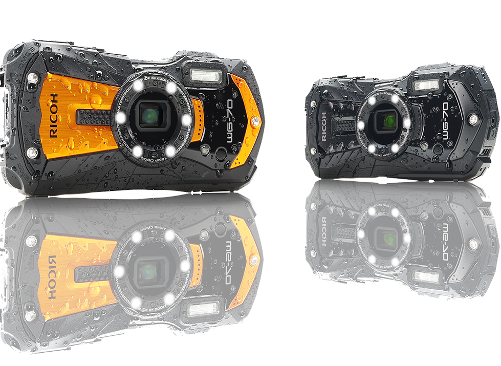 [Pre-order item. Ship within 45 days] Ricoh WG-70 (Orange/Black) All-weather adventure camera-Underwater Digital Camera-futuromic