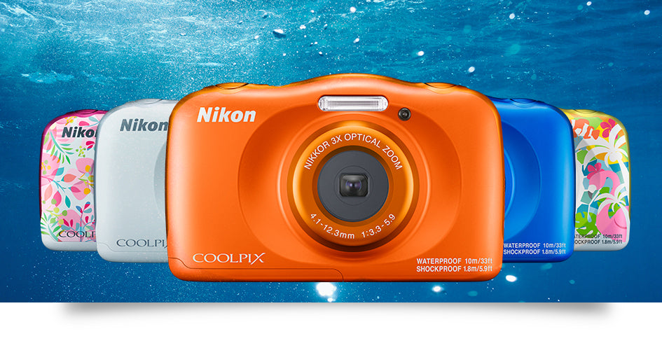 NIKON COOLPIX W150 DIGITAL CAMERA (Blue/Orange/Pink/White/Yellow)-Underwater Digital Camera-futuromic