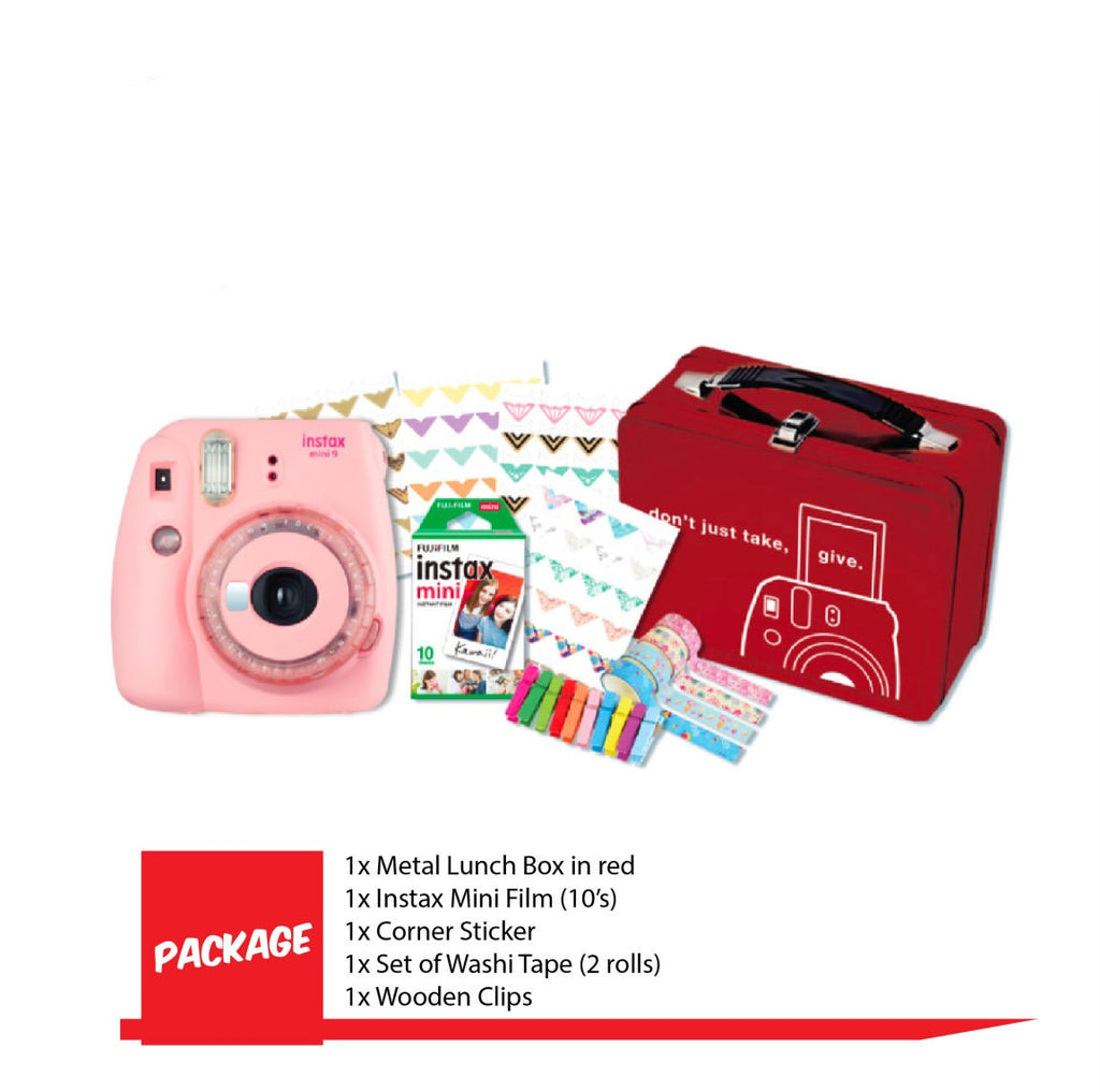 Fujifilm Instax Mini 9 Instax Camera ( Craftbox Package-Clear Pink )-Instant Camera-futuromic