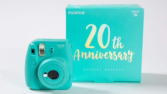 Fujifilm Instax Mini 9 Instant Camera ( 20th Anniversary Package-Aqua Green )-Instant Camera-futuromic