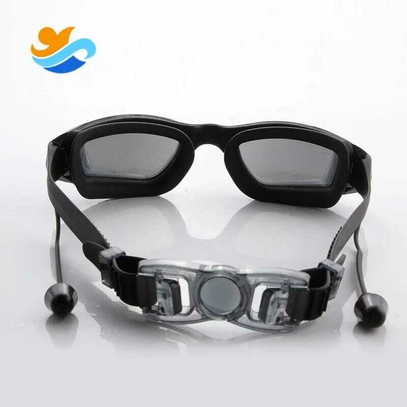 Unisex Swimming Anti-fog UV Goggles With Ear Plug & Case - Free Shipping