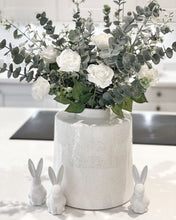 Load image into Gallery viewer, Willow White and Grey Detailed Ceramic Vase