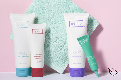 real-u acne skincare Red Starter Kit