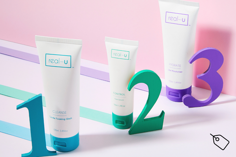 real-u acne skincare 3 step program