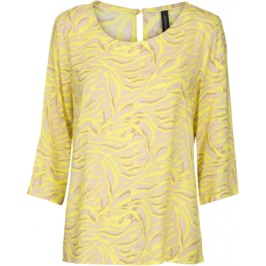 Peppercorn Jackie blouse Blouses 6140P SAFETY YELLOW