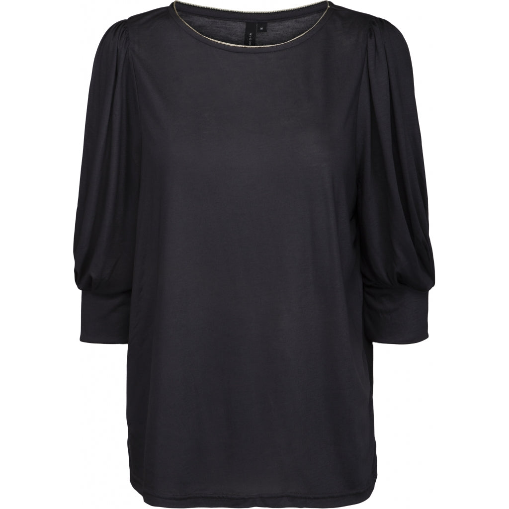 Peppercorn Nina O-neck Tee T-shirts 2101 EBONY GREY
