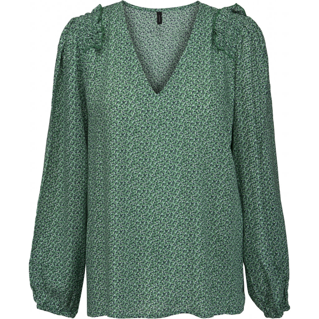 Peppercorn Peggy Blouse Blouses 3017P GREEN OPAL PRINT