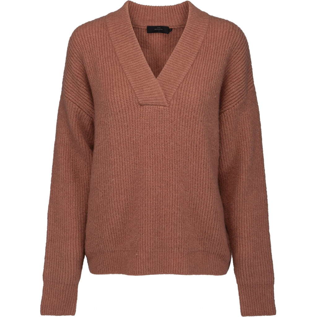 Peppercorn Penelope V-neck Pullover Pullover 0781 CANYON CLAY