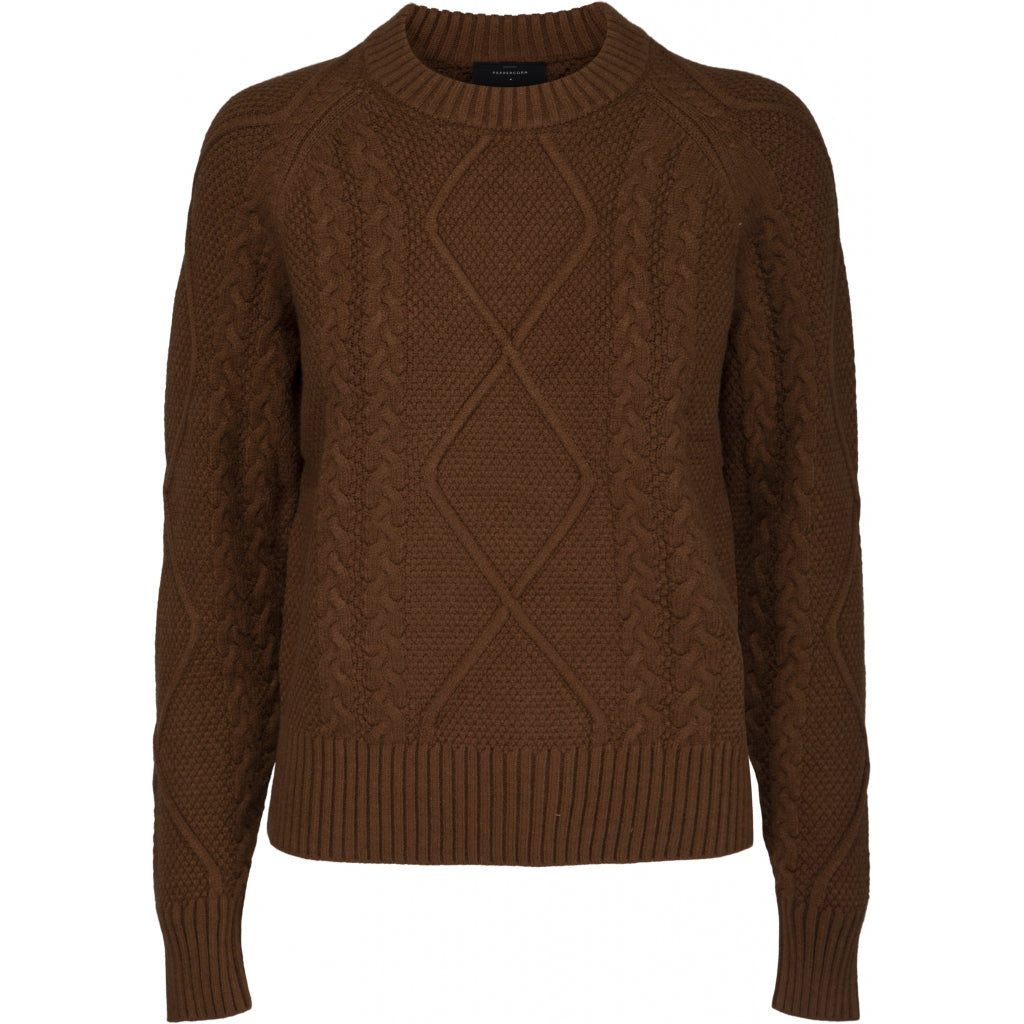 Peppercorn Stephanie Knit Pullover 5050 TOFFEE