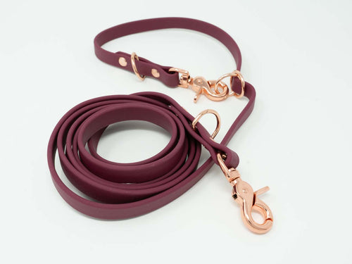Waterproof Convertible Lead - Wine