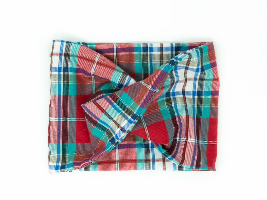 Twisted scarf - Rebel's plaid