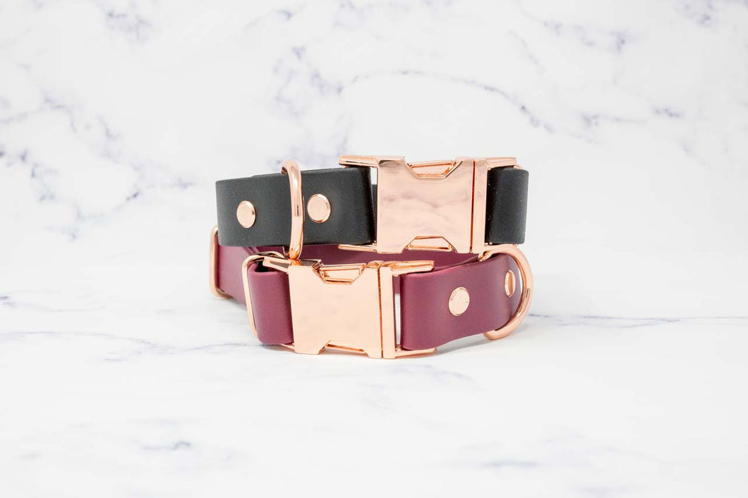 Waterproof Side-release Buckle Collar in Rose Gold