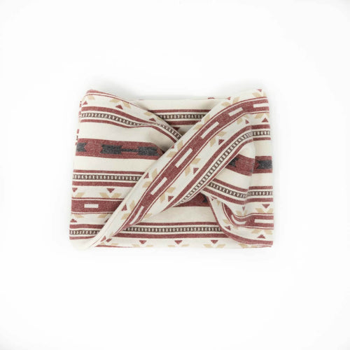 Twisted scarf - Rust Aztec