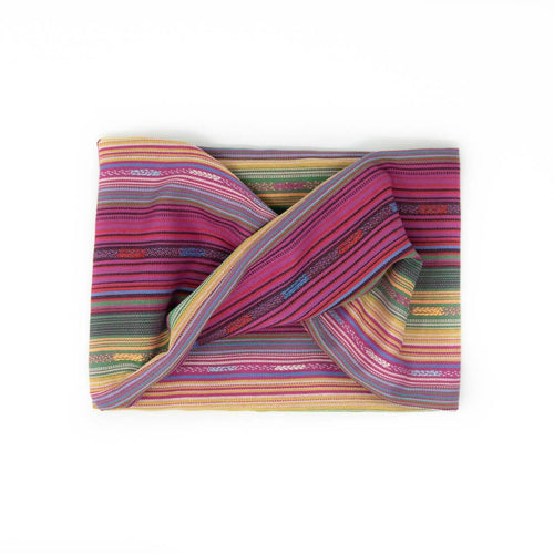 Twisted scarf - Cerise stripe