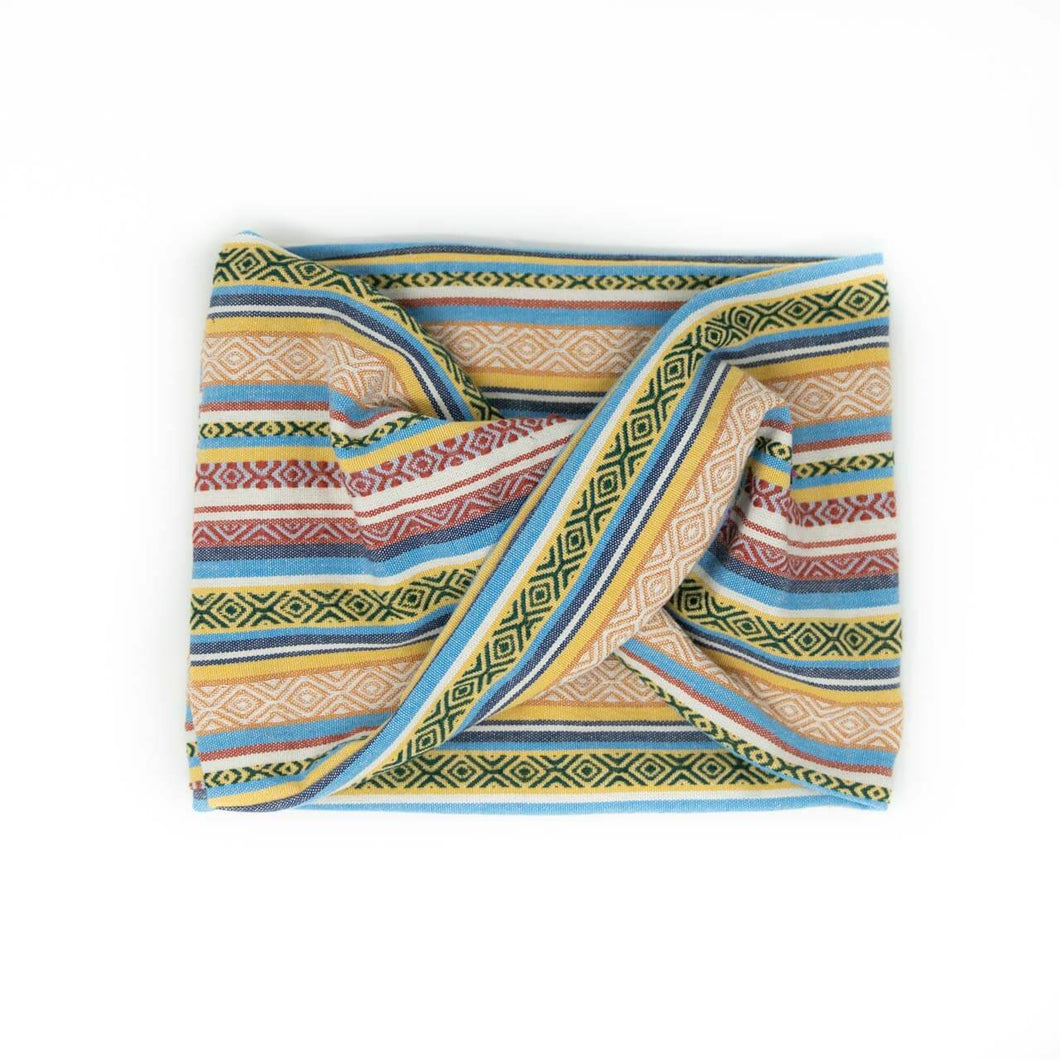 Twisted scarf - Golden stripe