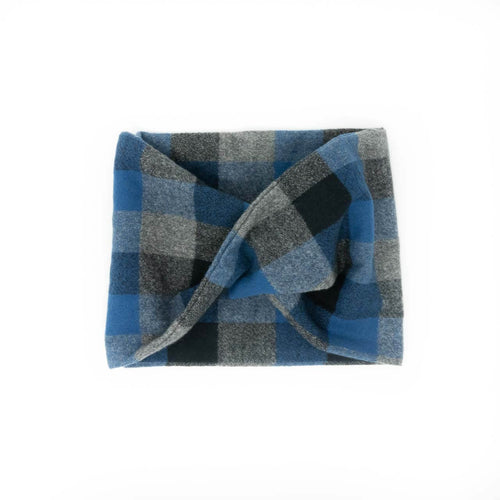 Twisted scarf - Ocean blue plaid