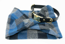 Load image into Gallery viewer, Twisted scarf - Ocean blue plaid
