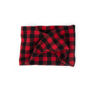 Twisted scarf - Red buffalo check