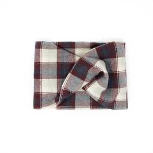 Twisted scarf - Wine plaid