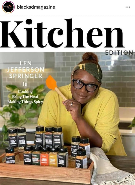 BLACKSDMAGAZINE FEATURE - Len Brings Her Home To Your Kitchen