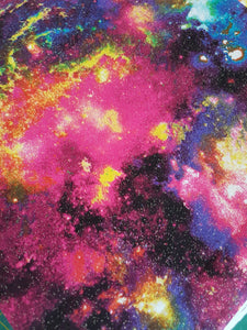 Booksleeve - Black and Pink Sparkly Galaxy