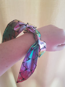 Scrunchy -  Shiny Silky Mermaid Scales