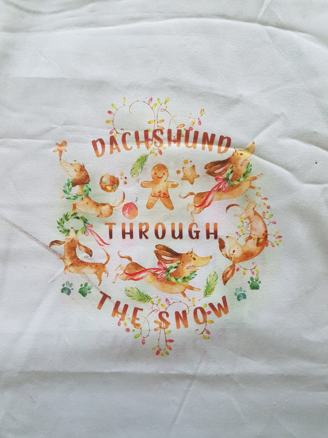 Booksleeve - Dachshund Through the Snow Panel