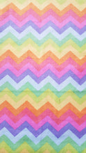 Load image into Gallery viewer, Booksleeve - Rainbow Chevron Soft-Feel