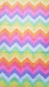Booksleeve - Rainbow Chevron Soft-Feel