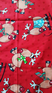 Booksleeve - Large Reindeer Red