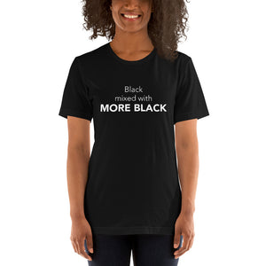 Black mixed with more black t shirt