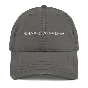 Super Mom Distressed Dad Hat