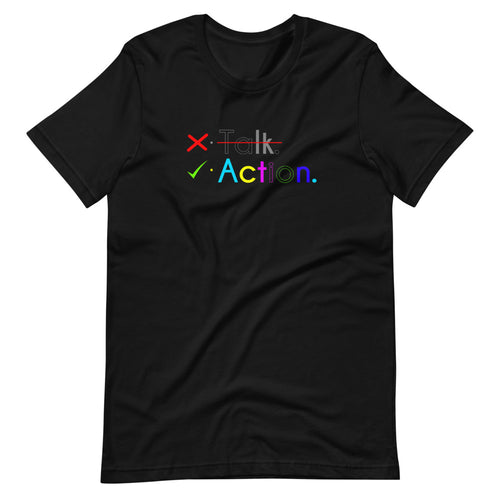 Less talk more action Custom Graphic T-Shirt