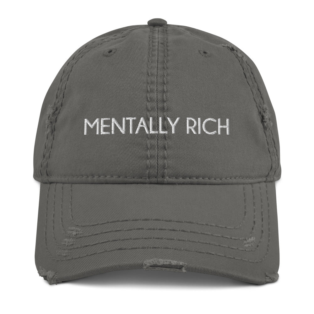 Mentally Rich Distressed Dad Hat